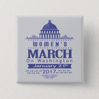 Badge Mars de million de femmes sur le Pin de bouton de