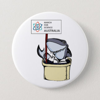 Badge Mars pour la Science Australie - requin -