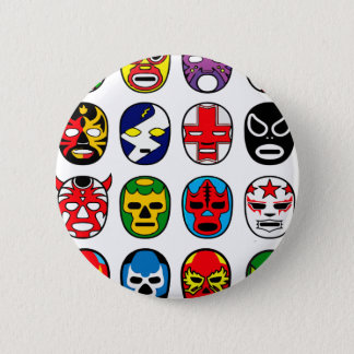Badge Masques de lutte mexicains de Lucha Libre Luchador