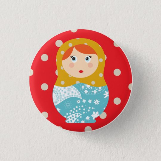 badge matriochka rouge