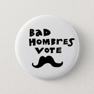 Badge Mauvais bouton de vote de Hombres