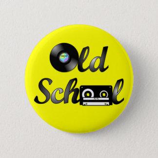 Badge Médias de musique de vieille école ronds (jaune)