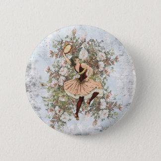 Badge Mélange floral gitan et match de danse vintage