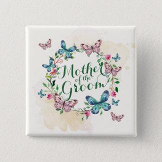 Badge Mère du bouton de Pin de guirlande de papillon de