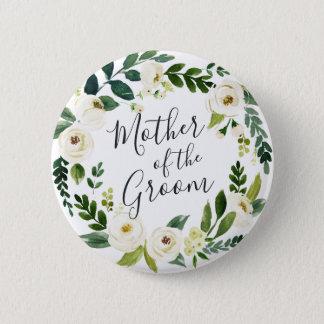 Badge Mère florale de guirlande d'albâtre du marié