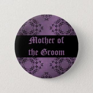 Badge Mère pourpre de mariage du marié