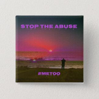 Badge #METOO de silhouette de lever de soleil de plage