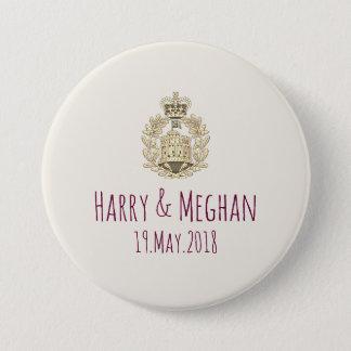 Badge Mod Harry et boutons royaux de mariage de Meghan