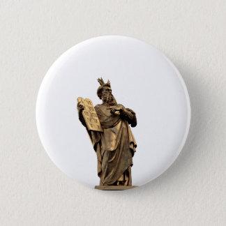 Badge Moïse et dix commandements d'or