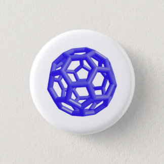 Badge Molécule de Buckminsterfullerene (bleue)