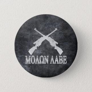 Badge Molon Labe croisé fusille les 2èmes droites d'arme