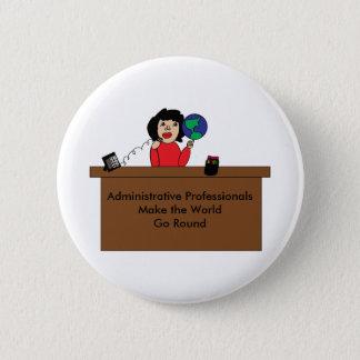 Badge Monde professionnel administratif (cheveux foncés)