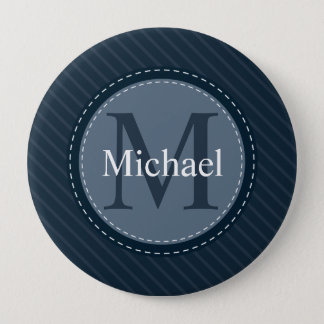 Badge Monogramme fait sur commande élégant de cercle de