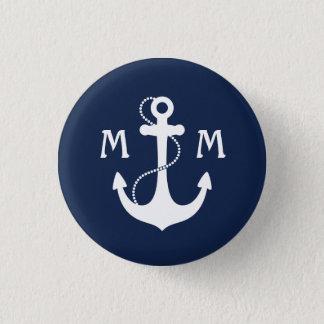 Badge Monogramme nautique