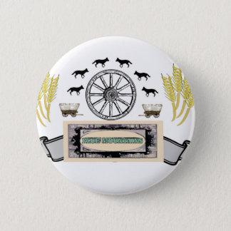 Badge montagnes de bleu de blé de roue
