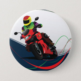 Badge Monte d'une moto rouge