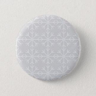 Badge Motif de flocon de neige - gris et blanc