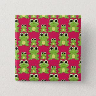 Badge Motif mignon de grenouilles