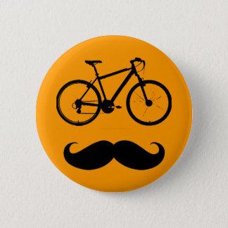 Badge moustache noire de vélo