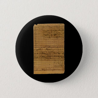 Badge Musique de feuille vintage par Johann Sebastian