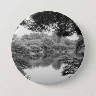 Badge Nature et lac noirs et blancs, frais, uniques