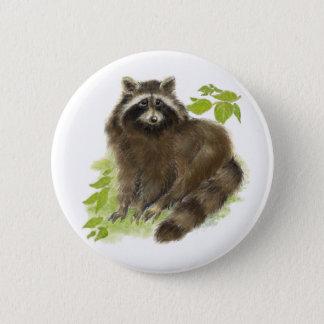 Badge Nature mignonne de raton laveur