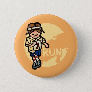 Badge ne courez pas avec des goupilles