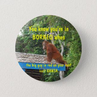 Badge Noël du père noël Bornéo