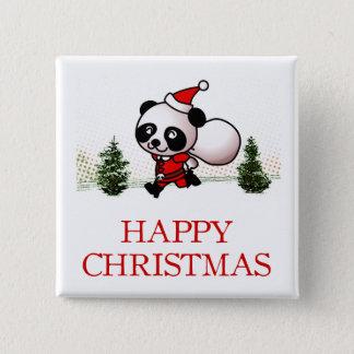 Badge Noël heureux de panda mignon