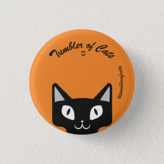 Badge Noir de bouton de TumblerofCats sur TumblerCat