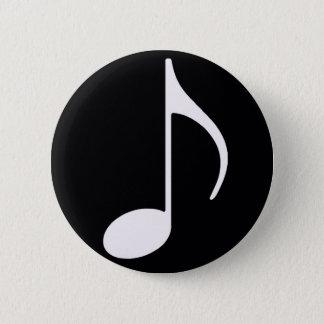 Badge noir de ~ de note musicale