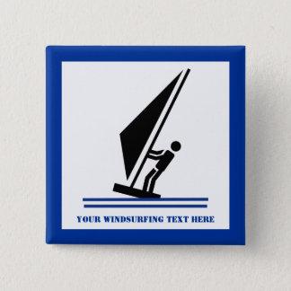 Badge Noir de planche à voile à bord, planche à voile