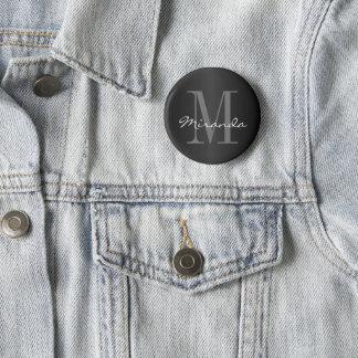 Badge Noir, gris et blanc classiques de la conception |