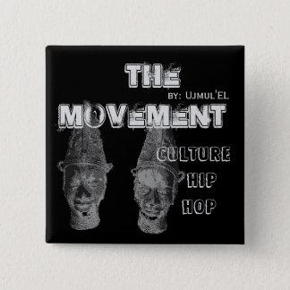 Badge (Noir) le bouton de hip hop de culture de