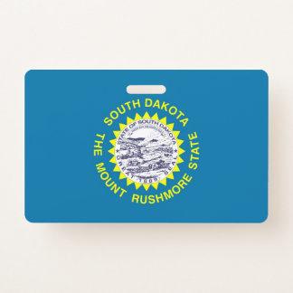 Badge nominatif avec le drapeau du Dakota du Sud,