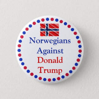 Badge Norvégiens contre le bouton de Donald Trump