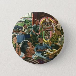 Badge Nourriture vintage, restaurant de wagon-restaurant