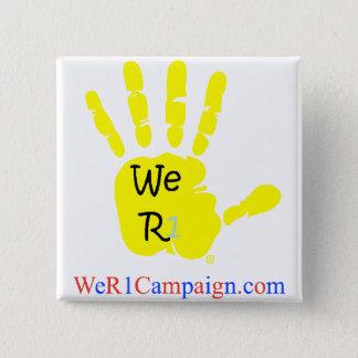 Badge Nous bouton jaune de la main R1