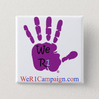 Badge Nous bouton pourpre de la main R1