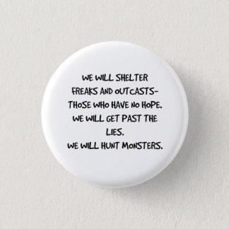 Badge Nous chasserons le bouton de citation de monstres