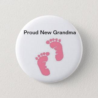 Badge Nouvelle grand-maman fière