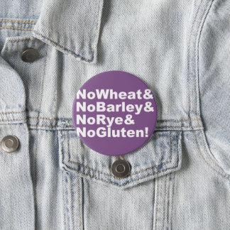 Badge NoWheat&NoBarley&NoRye&NoGluten ! (blanc)