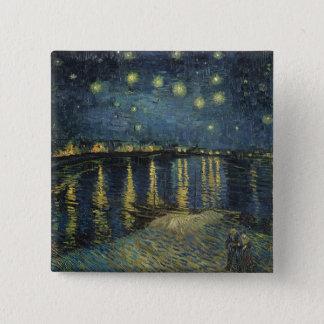 Badge Nuit étoilée de Vincent van Gogh | au-dessus du
