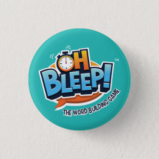 "Badge Oh bip ! Turquoise du bouton 1,25"" (course"