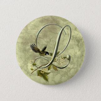 Badge Oiseau chanteur L initial
