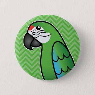 Badge Oiseau militaire de perroquet d'ara de bande
