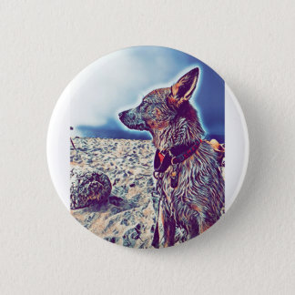Badge Opale le bon à rien Heeler de plage