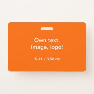Badge Orange horizontale d'insigne uni