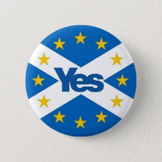 Badge Oui à l'Européen indépendant Ecosse