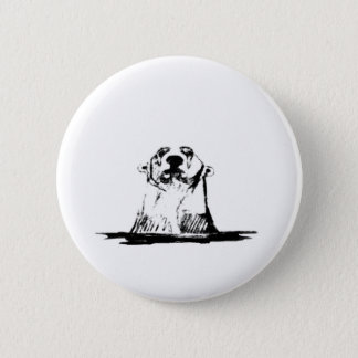 Badge Ours blanc